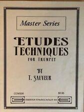 Master Series Etudes Techniques for Trumpet - T. Sauveur