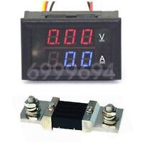 0-200V 500A DC Digital Voltmeter Ammeter LED Amp Volt Meter + 500A Current Shunt
