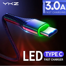 USB Type C 3.1 Ladekabel Handy Daten Kabel LED Stecker schnell 3A Quick Charge⚡