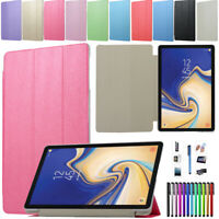 """For 7"""" 8"""" Samsung Galaxy Tab A A6 S2 Tablet Case PU Leather Smart Stand Cover"""