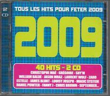 2 CD COMPIL 40 TITRES--TOUS LES HITS 2009--MAE/SHY'M/BALDE/WOLF/ZAHO/BLUNT/BROWN