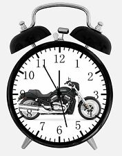 "American Motorcycle Alarm Desk Clock 3.75"" Home Office Decor E333 Nice For Gift"