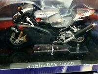 Moto Aprilia RSV 10000R Grigia - Scala 1:24 Die Cast - Atlas Nuova