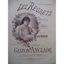 ANGLADE Gaston Les Regrets Chant Piano partition sheet music score
