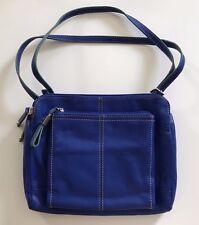 Dark Blue Leather Tignanello Handbag
