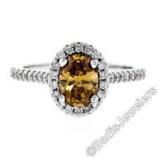 Anelli con diamanti naturale ovale colore fantasia