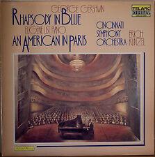 GERSHWIN: Rhapsody in Blue/American in Paris-1981DGTL LP TELARC KUNZEL GATEFOLD