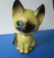 Vintage cute  Yellow Cat Kitten Figurine made in Japan 6 in tall