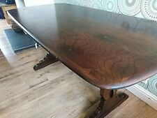 Outstanding 1960's Mid-Century ERCOL Solid Oak Refectory Dining/Farmhouse Table