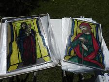 Glasbilder mit Zinnrahmen Maria mit Kind und Josef 30x45