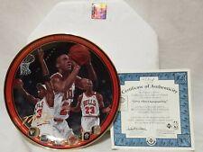 "MICHAEL JORDAN Upper Deck ""1992 NBA Championship"" Limited Edition Plate W/COA"