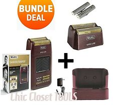 Wahl 8061 Professional 5 Star Cord/Cordless Rechargeable Shaver COMBO DEAL NEW