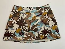 PATAGONIA Large Floral Skirt Organic Cotton Spandex Pull On