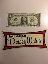 Orig VTG Dewey Weber 1960-80s Surf Sticker(hawaii,t&c,HIC,Surfing,nos,decal,AUS)