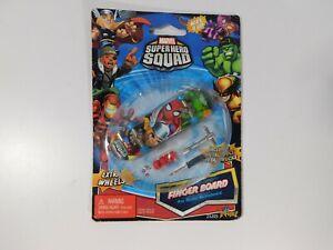 Marvel Super Hero Squad Fingerboard Thor Spider Man Incredible Hulk NEW!