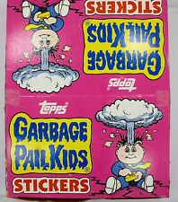 1986 Garbage Pail Kids Stickers - UNOPENED BOX