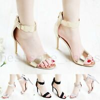 Womens Ladies Party High Heel Sandals Stiletto Ankle Strap Evening Out Shoes