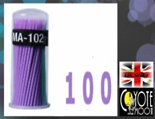 100pcs 2.0 mm HEAD Micro Spazzole TAMPONI TUBO Applicatori per Extension Ciglia UK