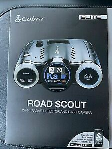 BRAND NEW COBRA ROAD SCOUT ELITE RADAR DETECTOR AND DASH CAM. New In Box Sealed.