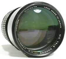 Minolta Tele Rokkor 200mm F4 Prime Lens MD with Caps UK Fast Post UK Fast Post