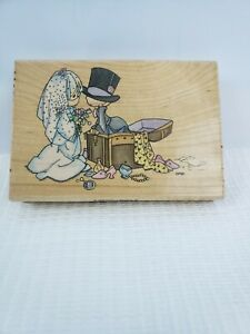 """1996 Stampendous Precious Moments Rubber Stamp UP004 4.5"""" X 3"""""""