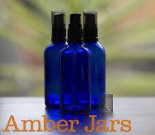 8 x 100ml Glass Amber Blue  Bottles with Gel/ Serum Pump. DIY Gels, liquid soap