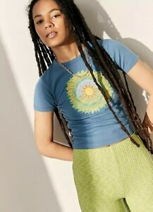 Urban Outfitters Turquoise Mother Earth Baby Tee BNWT Size Small RRP £24
