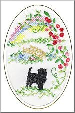 Affenpinscher Rainbow Bridge Card Embroidered by Dogmania