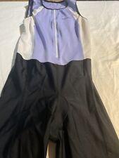 Sugoi Women's Suit Sleeveless Black Triathlon Cycling Skinsuit Padded Sz XL Euc