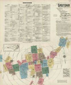 4 cities in, North Carolina ~Sanborn Map©sheets~93 maps in color  PDF format