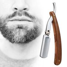 Vintage wood Handle Straight Edge Barber Razor Folding Manual Steel Shaving+Case