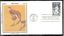 US Scott # 2046 Babe Ruth FDC . Colorano Silk Cachet 1