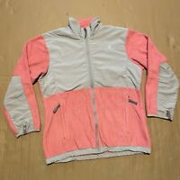 Pink Grey TNF The North Face Polartec Full Zip Through Fleece/Softshell Jacket S