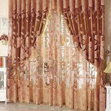 Panel Lined Heavy Thick Blackout Grommet Window Curtain Drape Treatment + Hooks