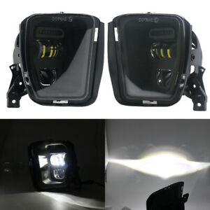 Black Bumper LED Fog Lights for Dodge Ram 1500 2013 2014 2015 2016 2017 2018