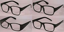 Reading Glasses [+1,75] 4 Pair Black Plastic Frame  Wholesale Lot Reader 1,75