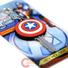 Mavel Avengers Capain America Shield Key Cap Rubber PVC Soft Touch Key Holder