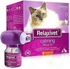 Relaxivet Natural Cat Calming Diffuser Kit - Improved No-Stress Formula -.