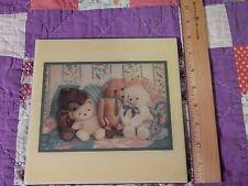 """Leanin' Tree - Donna Richardson """"Bear Hugs"""" (ART TILE) Ltd. Decor (FREE SHIP.)"""