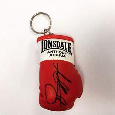 Autografiada Mini Guante De Boxeo Llavero Anthony Joshua