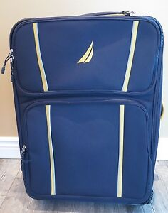 """Preowned NAUTICA 28"""" Starboard Collection Wheeled Trolley - Blue / Yellow"""