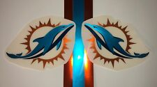 Miami Dolphins Full Size Football Helmet Decals - Chrome