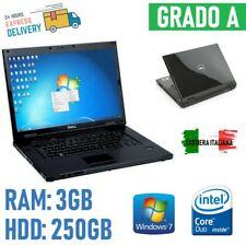 """NOTEBOOK PC PORTATILE DELL VOSTRO 1510 CORE2DUO 2.00GHz 15,5"""" 3GB 250GB HDD WIND"""
