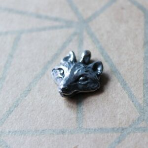Pewter Wolf Charm Pendant by Green Girl Studios