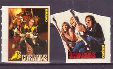 SCORPIONS MUSIC GERMANY 2 RARE SMALL BRAVO VINTAGE OLD STICKERS R17339