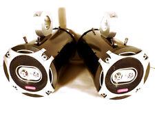 Pair SJS Dezign Cadence 800 Watt Boat Wakeboard Tower Speakers Black Bling Utv