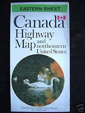 Government Highway Map of Eastern Canada 1973