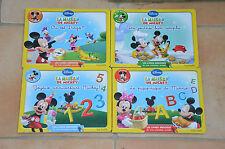 lot 4 livres Ardoises - La maison de Mickey (Disney) - écris, compte, repère...