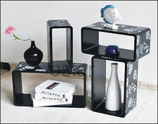1 set of 4 pcs Wall floating shelving Display shelves cube shelf