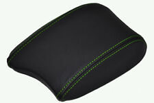 FITS HYUNDAI COUPE 99-02 ARMREST COVER LEATHER L GREEN STIT